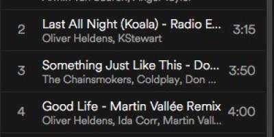 spinning playlist juni 2017
