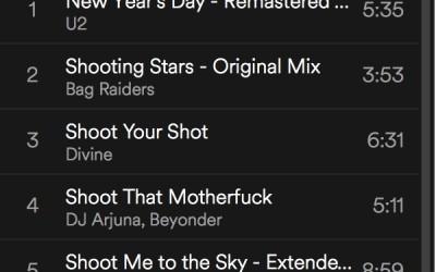 spinning playlist januari 2018