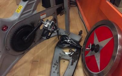 spinning fiets kapot